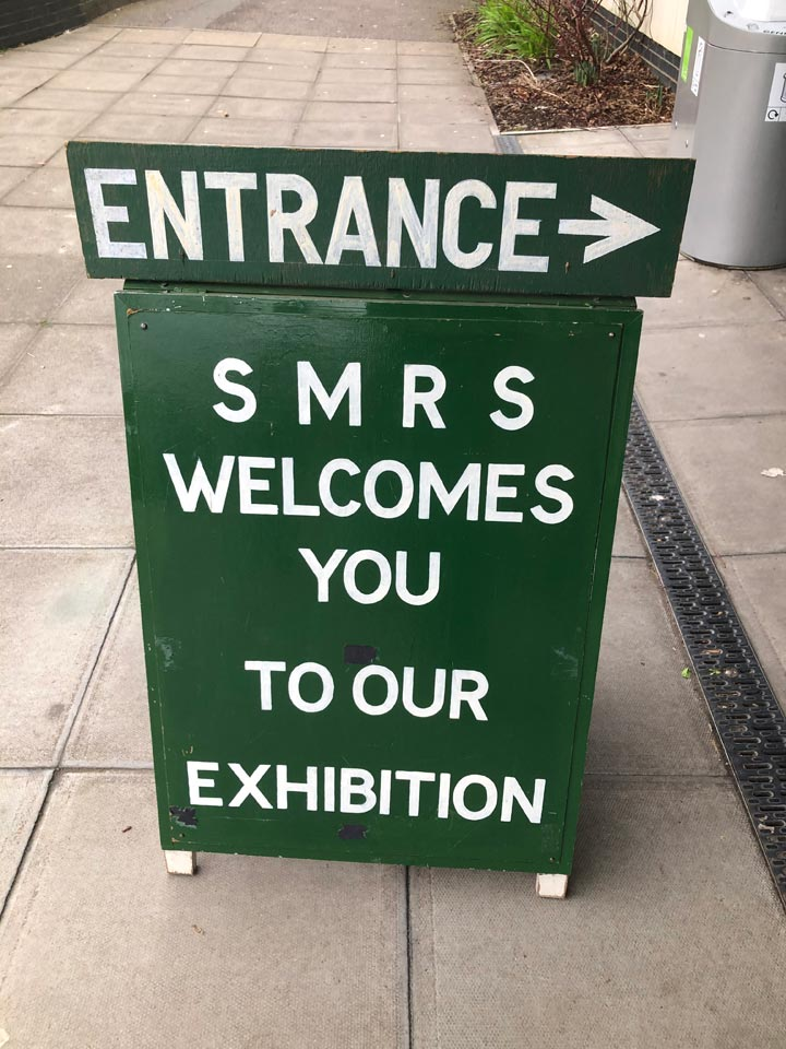 Welcome to Southampton Model Railway Exhibition Sign